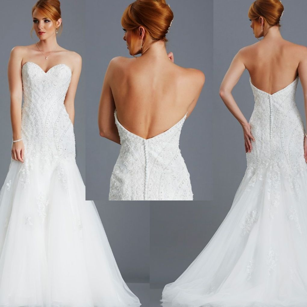 backless, fishtail, lace, beaded, illusion back