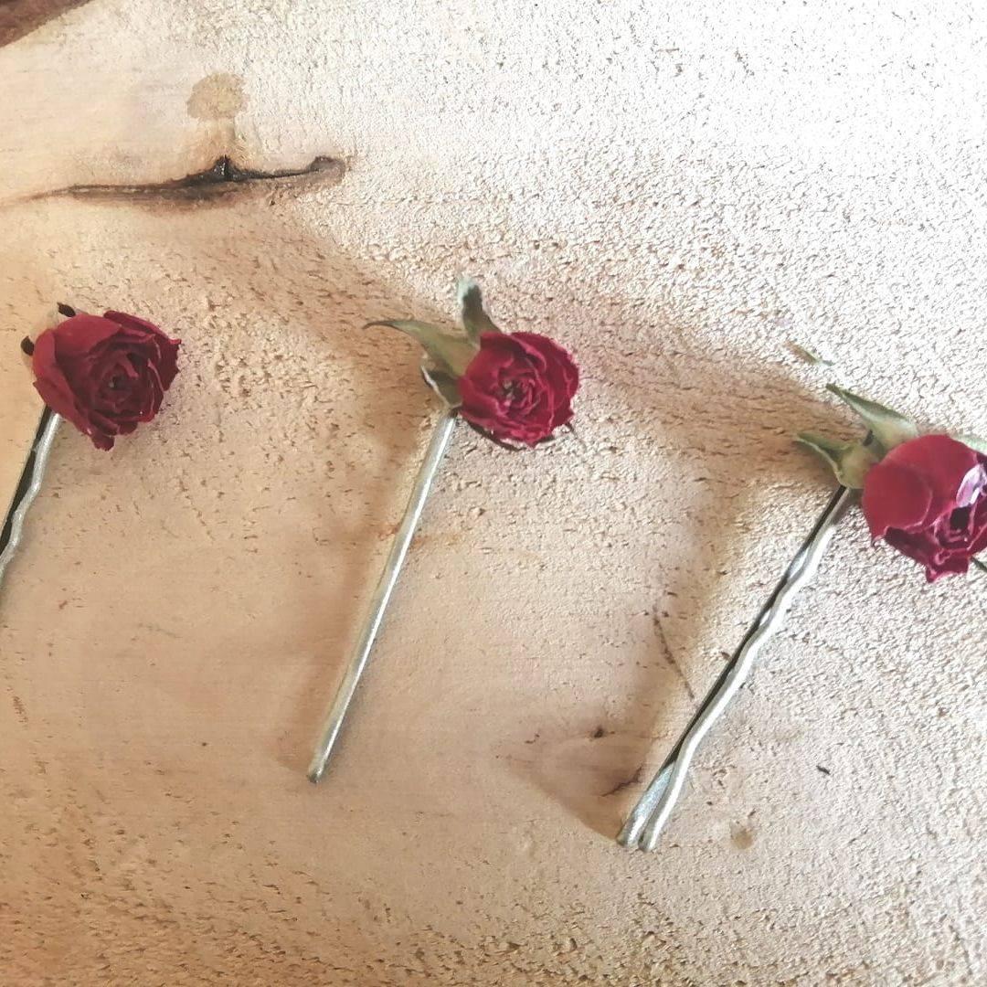 Rose Hair Slides