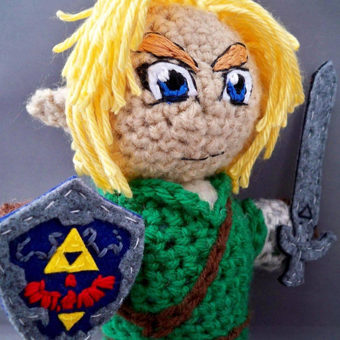 Link, Legend of Zelda, Breath of the Wild, Nintendo, amigurumi, plush, doll, crochet, handmade, geek, nerd