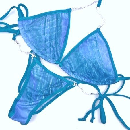 blue practice bikini