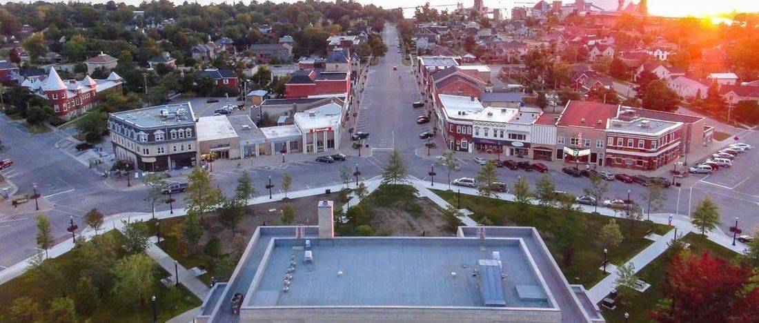 town of Goderich, downtown Goderich, the square in Goderich,