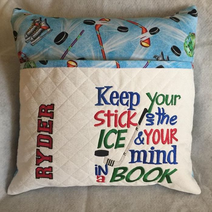 Custom Hockey Reading Pillow