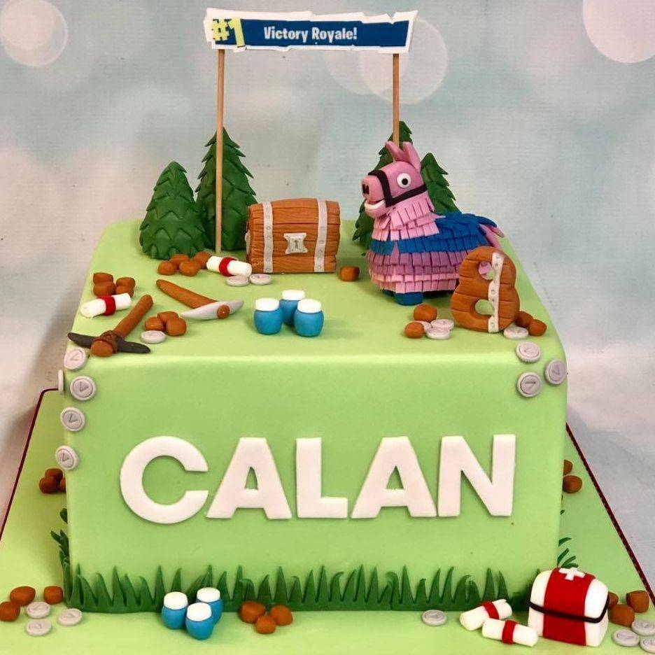 Fortnite Birthday Cake Llama Pinata Chest V Bucks Medical Victory Royale