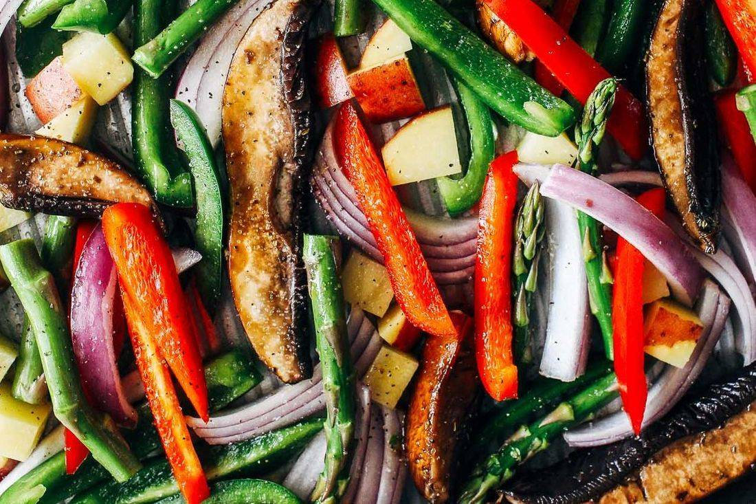 Portobello & Roasted Vegetable Salad