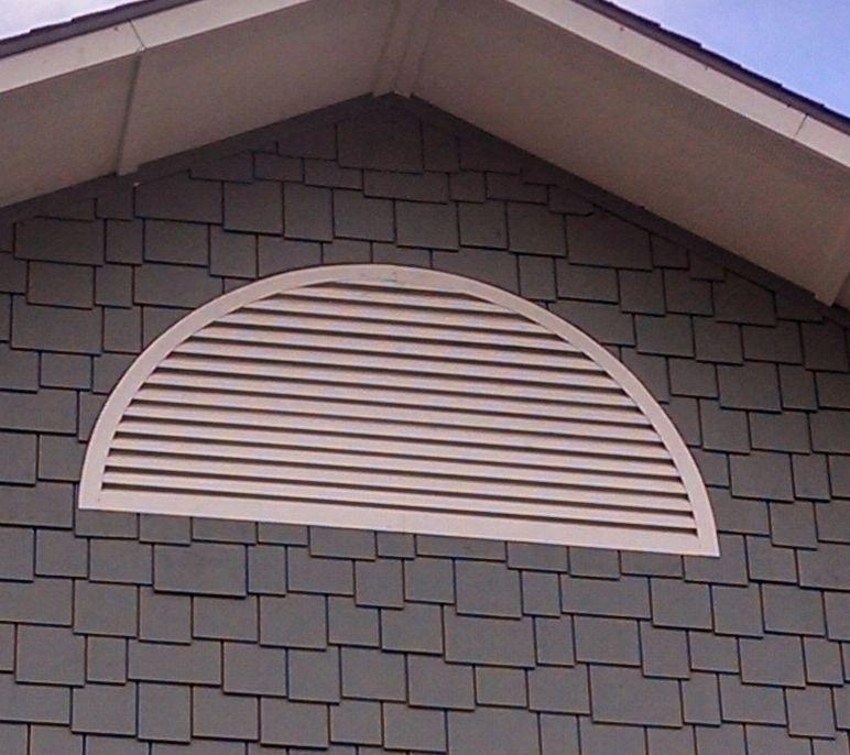 Aluminum half round gable vent