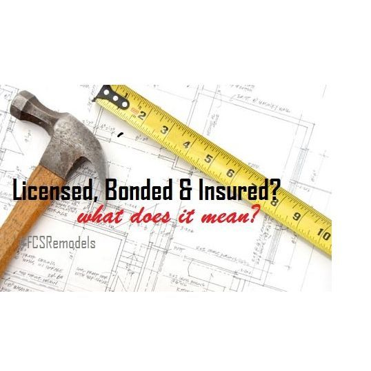 Lisensed, Bonded & Insured?