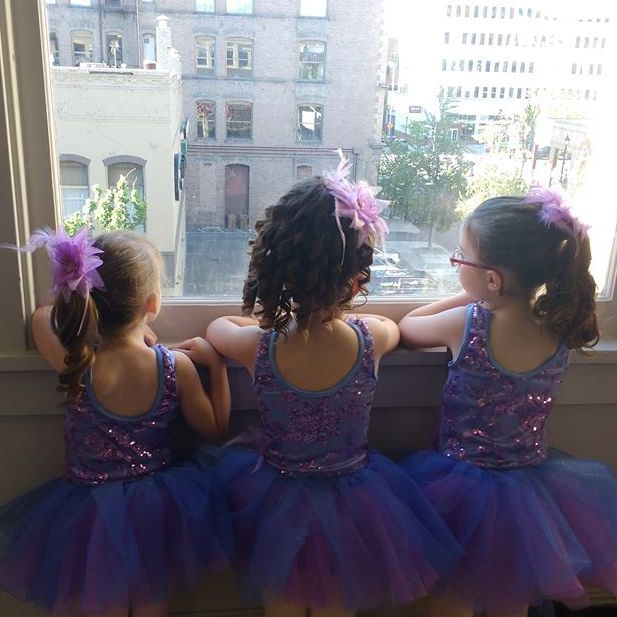Our darling dance students ready to take to the stage at our June recital...:)