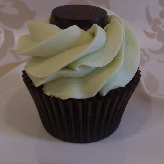 Vegan Chocolate Mint Cupcake