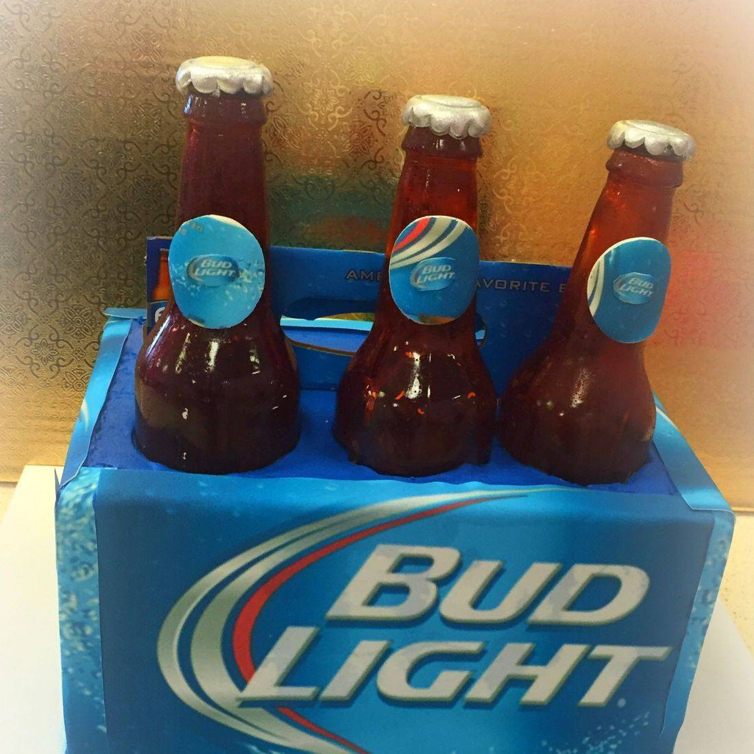 birthday cake bud light edible bottles cake 6 pack cake