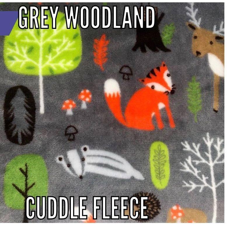 grey woodland fabric