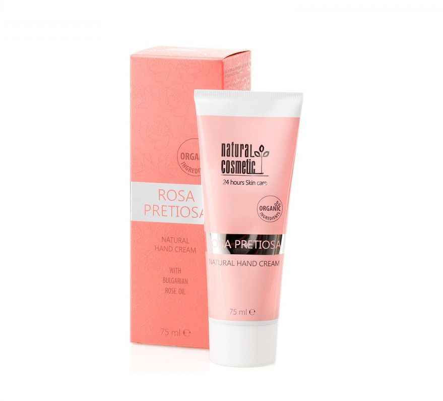 rosa pretiosa natural hand cream, clean rose beauty, rose beauty gift, rosepost box, shop rose skincare, rose hand cream