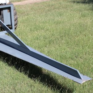 non hydraulic skid steer saw for flush cutting trees