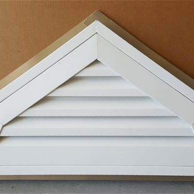 White pvc coated aluminum gable vent