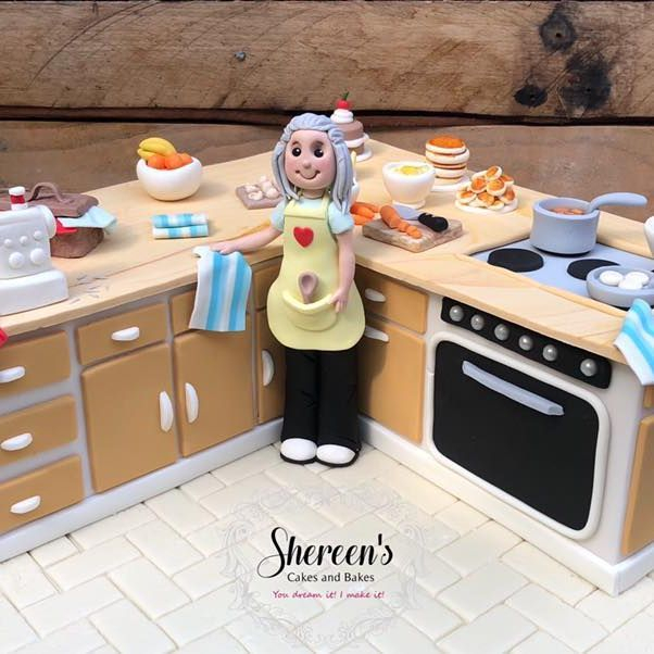 Birthday Cake kitchen cook sewing pancakes stove oven food