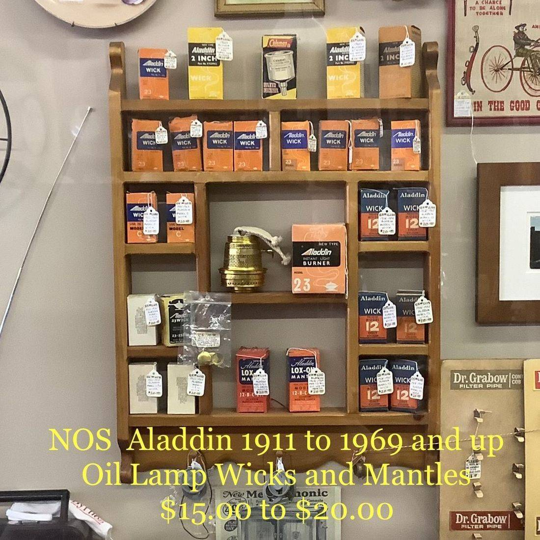 NOS Aladdin 1911 to 1969 & up Oil Lamp Mantles and Wicks