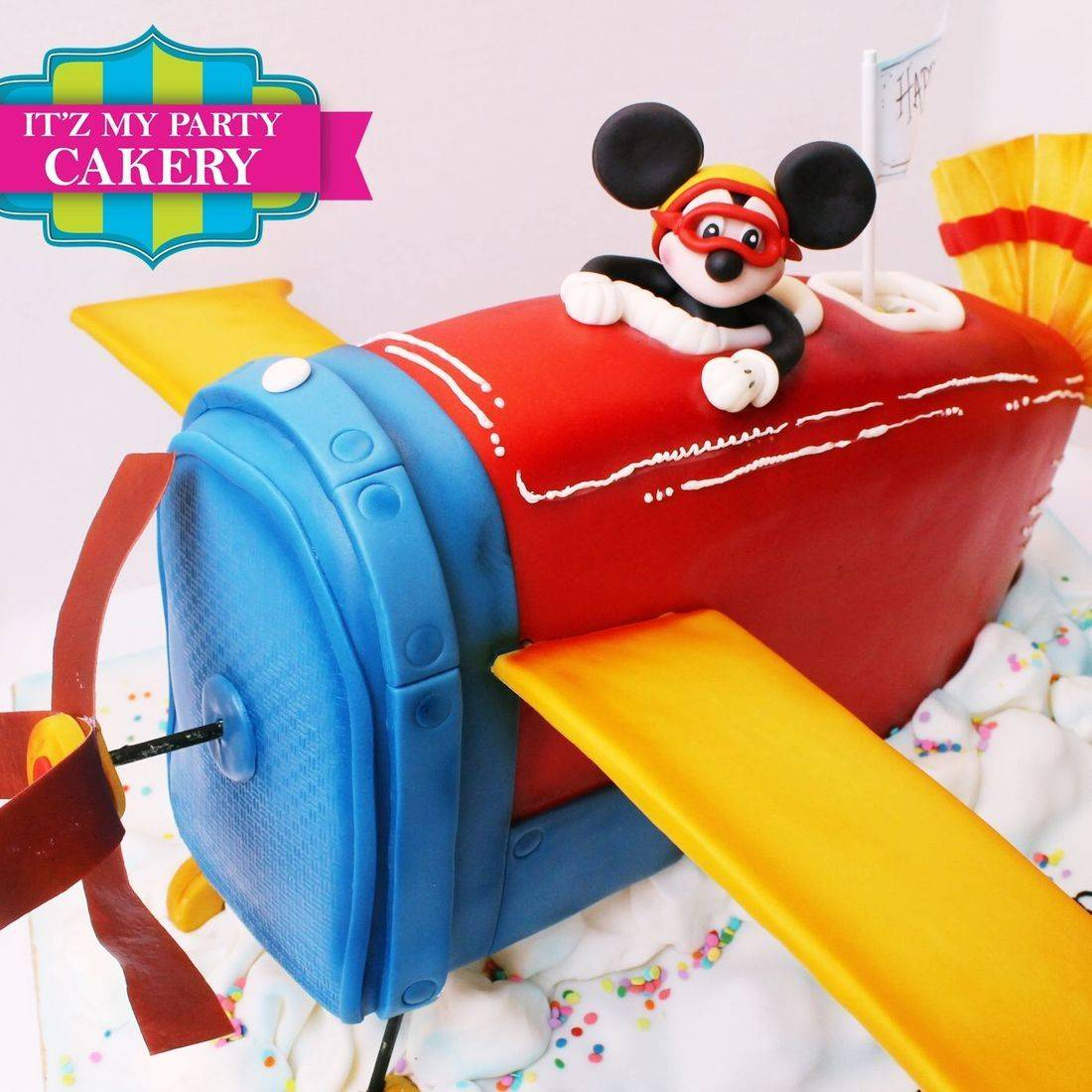 Mickey Mouse Airplane Cake Dimensional Cake Milwaukee