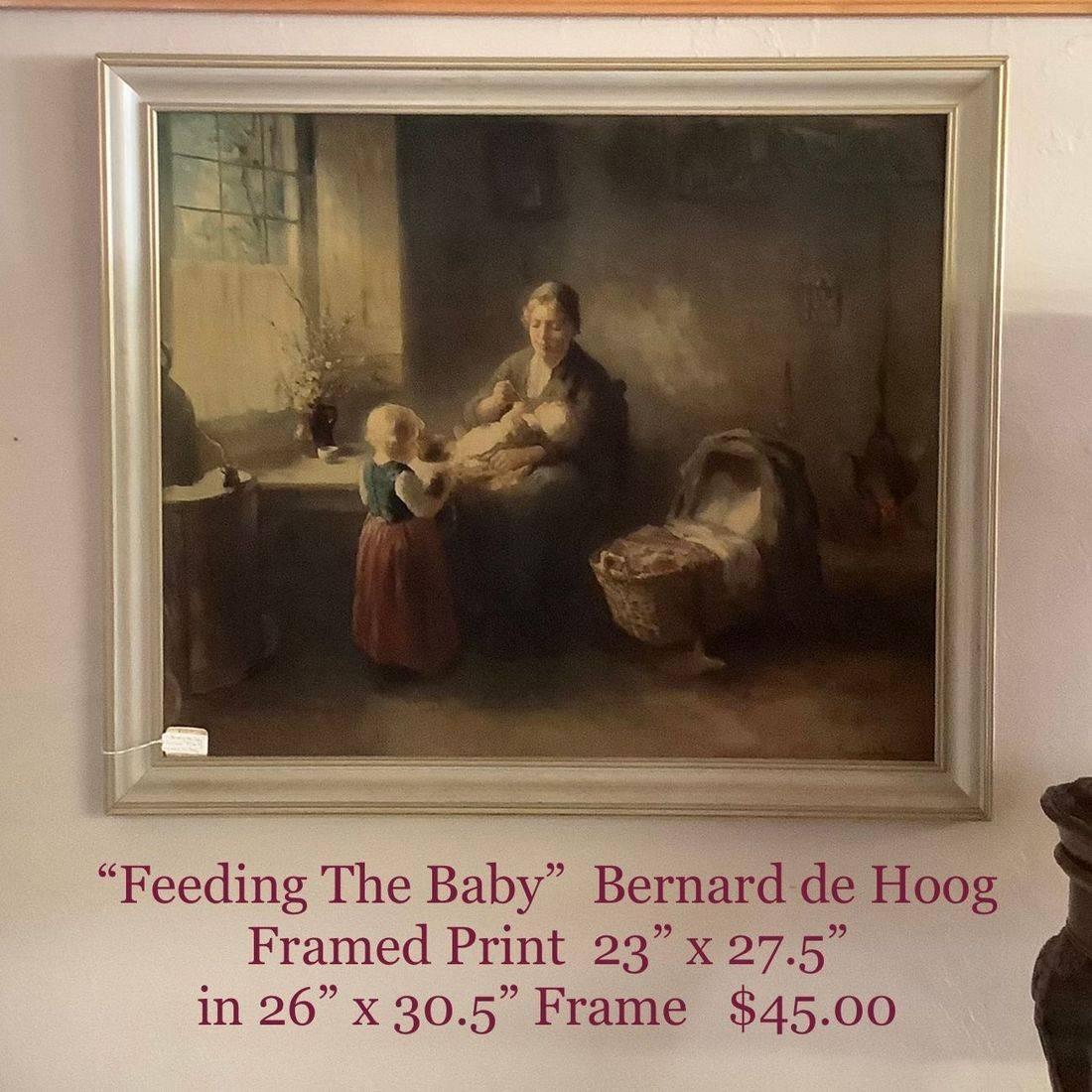 """Feeding the Baby"" Framed Print by Bernard de Hoog  $45.00"