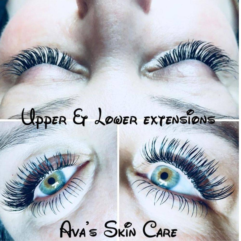 Upper & Lower Lash Extensions By Ava's Skin Care