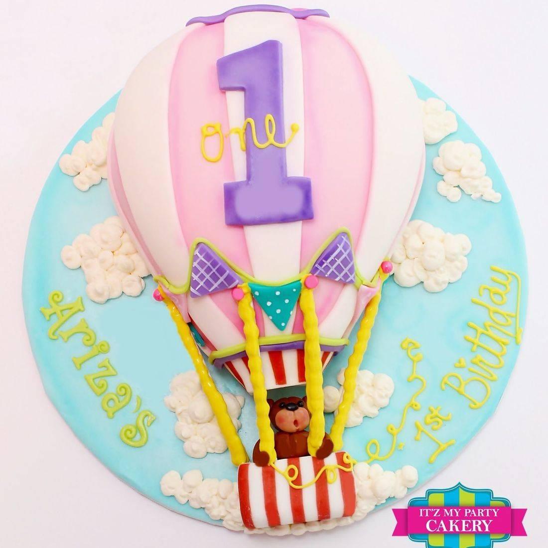 Hot Air Balloon Teddy Bear Cake Dimensional Cake Milwaukee