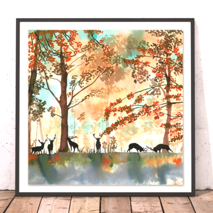Tatton Park autumnal limited edition print deer stag