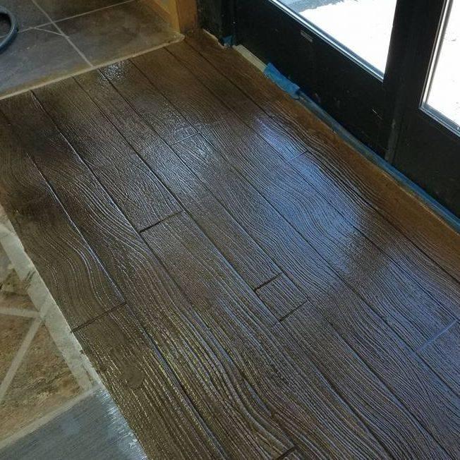 Wood Plank Concrete Overlay
