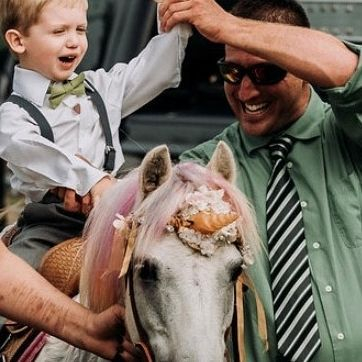 little boy on pony