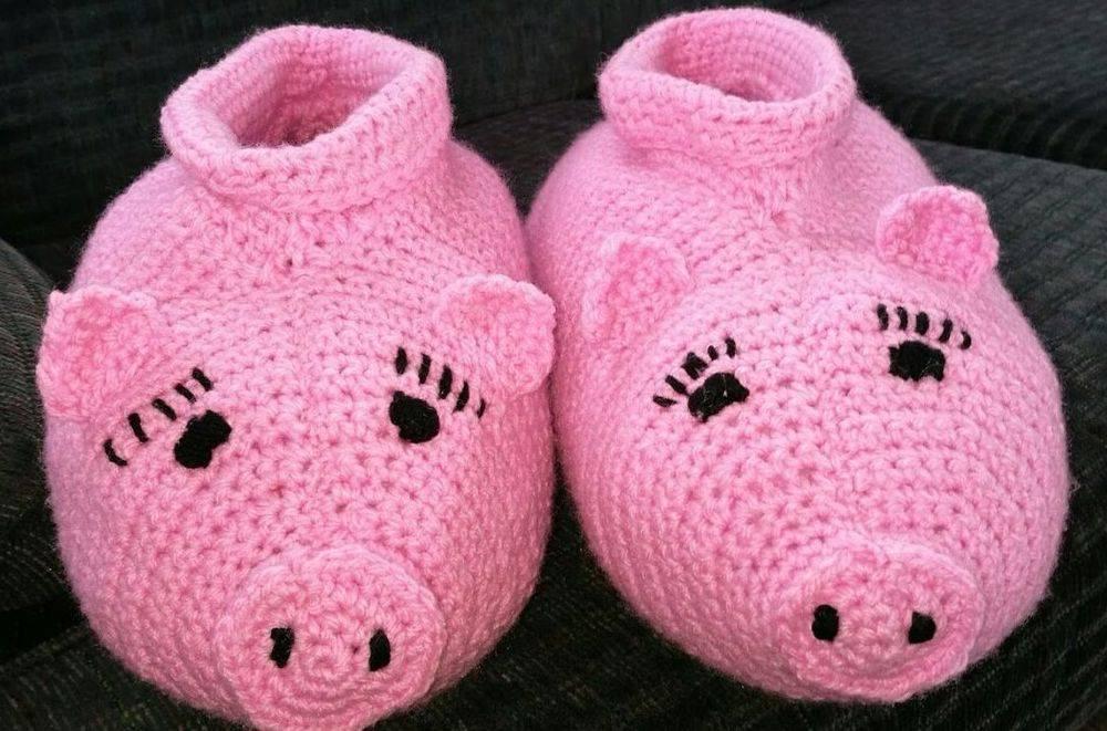 Handmade Slippers Miss Piggy