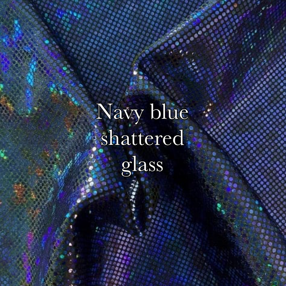 Royal black shatter glass