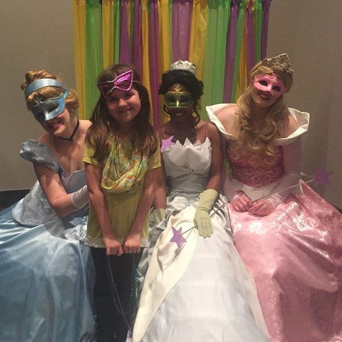 Cinderella Tiana Sleeping Beauty Birthday Party Ideas  Biloxi, MS Birthday Characters Gulfport, ms. Birthday Party Ideas, Ocean Springs, ms.