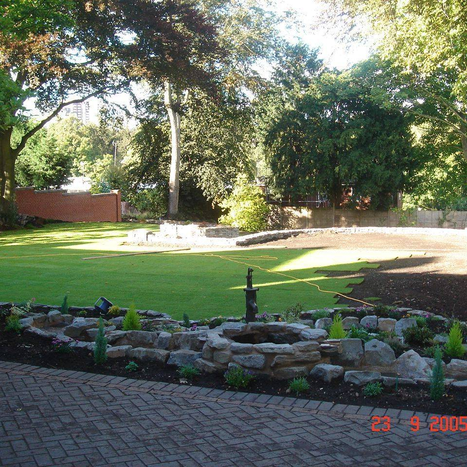 landscaping and laying new turf lawn in Plymouth