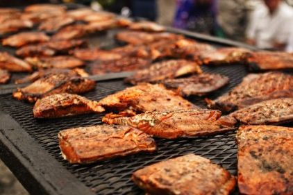 salmon bbq Seattle catering