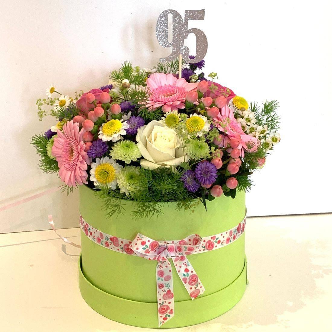 Hat box flowers