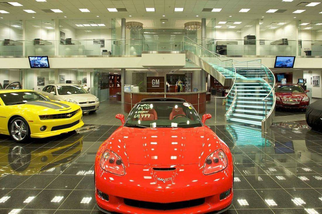 auto dealerships, showrooms