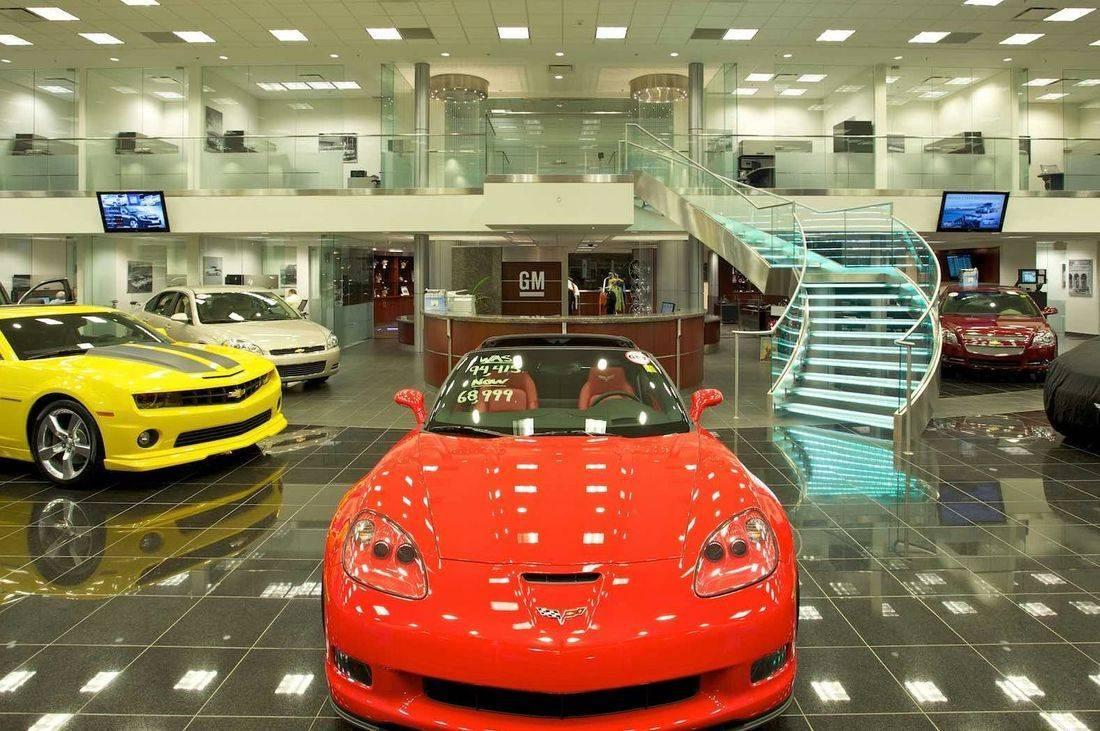 auto dealerships, showrooms