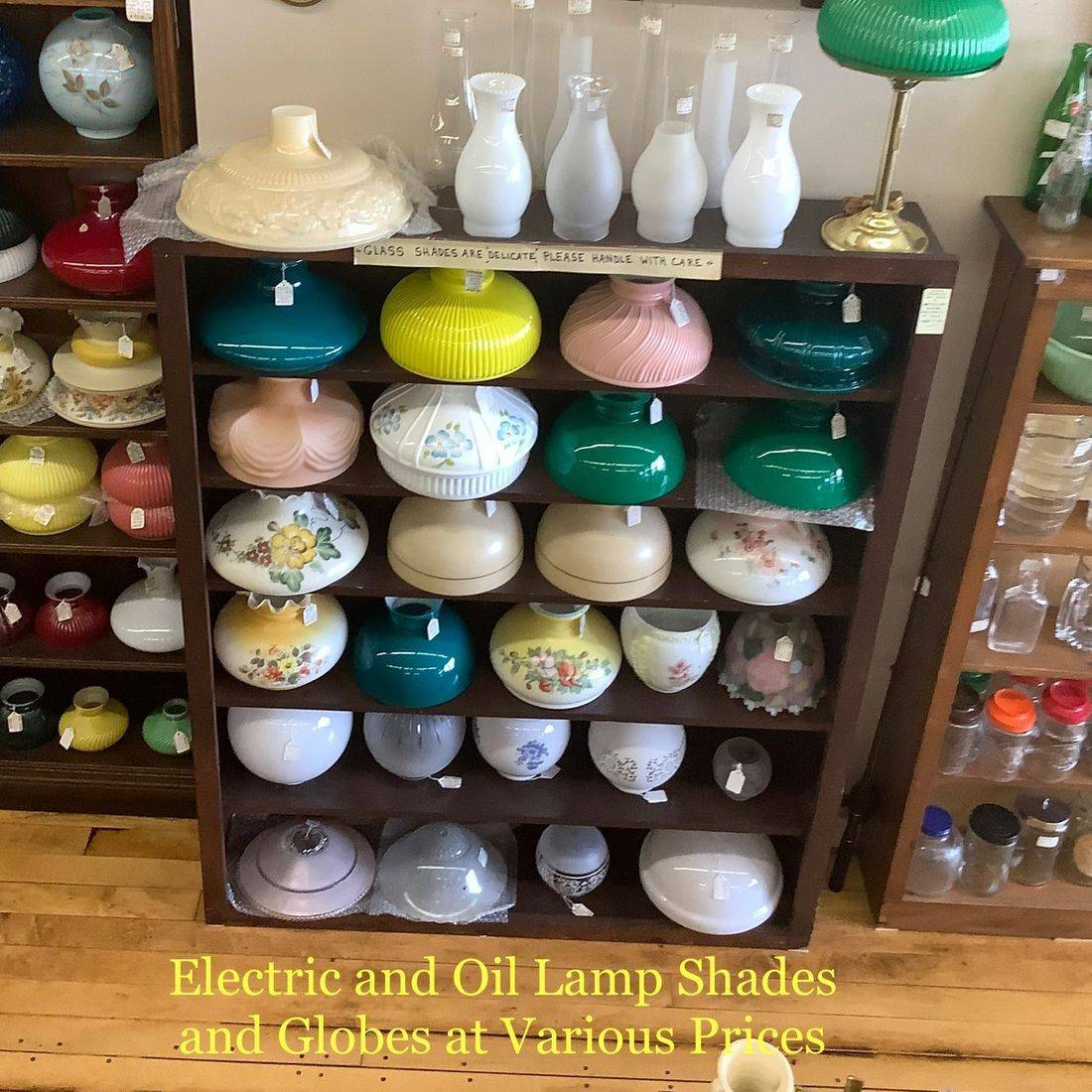 Electric and Oil Lamp Shades & Globes at Various Prices