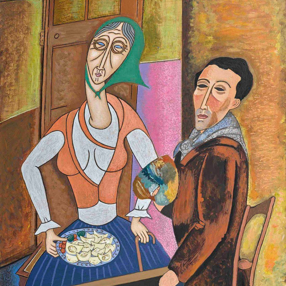 Modigliani, Grandmother, Pierogies, Polish Culture, Homage, Famous Artists, Parody, Humor