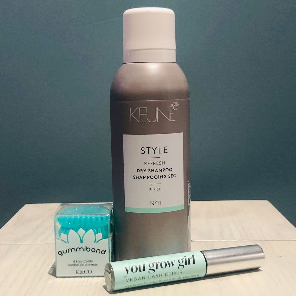 Dry Shampoo, Lash Serum and hair band, exhalo gifts, exhalo kanata