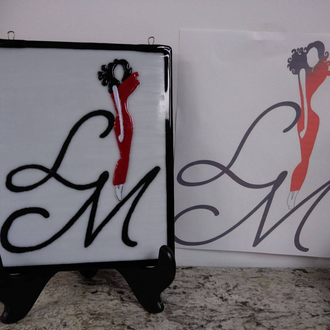 Fused Glass Custom Order Scranton Handmade Small Business Logos
