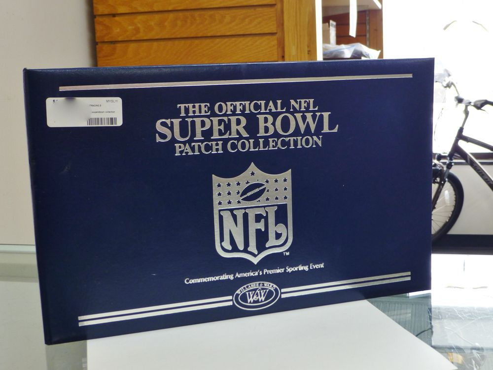 Official NFL Super Bowl Patch Collection in Blue Binder