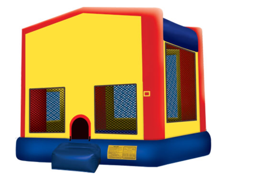 blue castle bounce house slide combo inflatable party rental