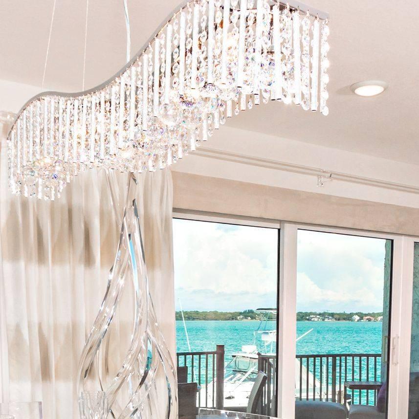 Crystal Wave  chandelier