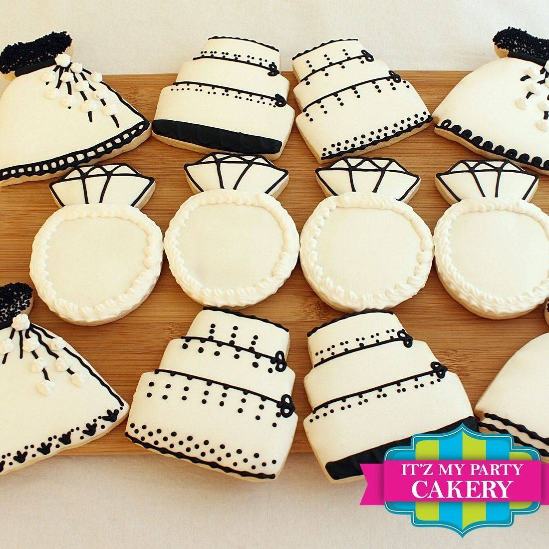 Black White Wedding Cookie Set Milwaukee