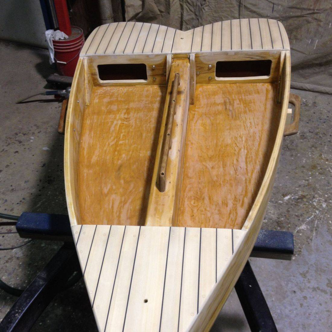 Custom Build ice boat by Bergersen Boat