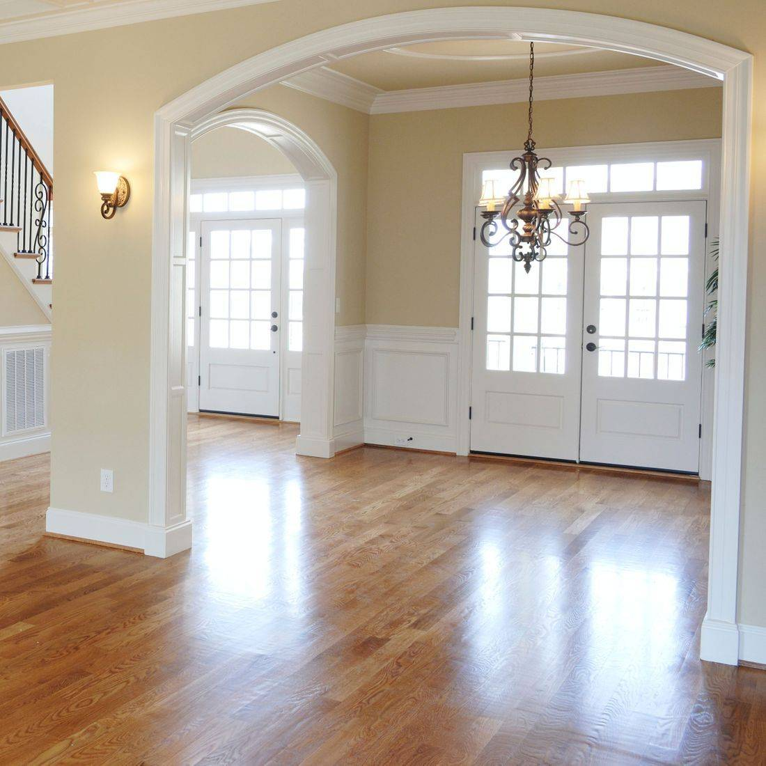 Luxury Hardwood Floors in Entry