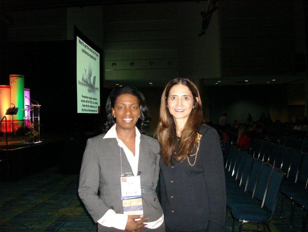 With Dr. Thelma Melendez de Santa Ana