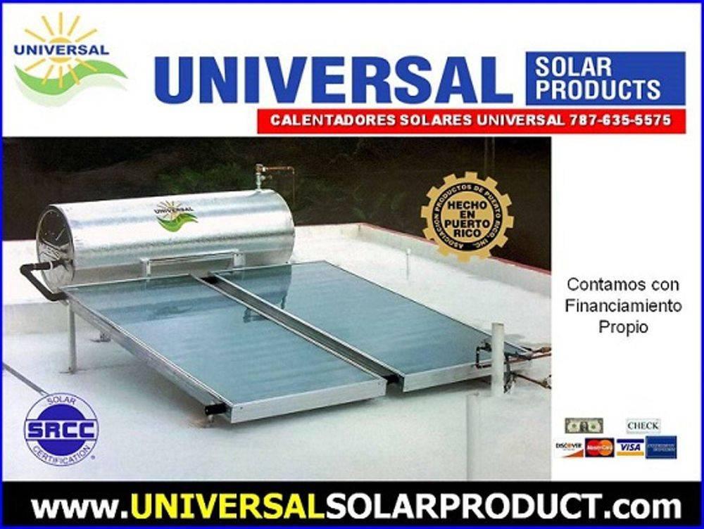 Calentador solar de 2 placas para suplir agua caliente de 1 a 6 personas