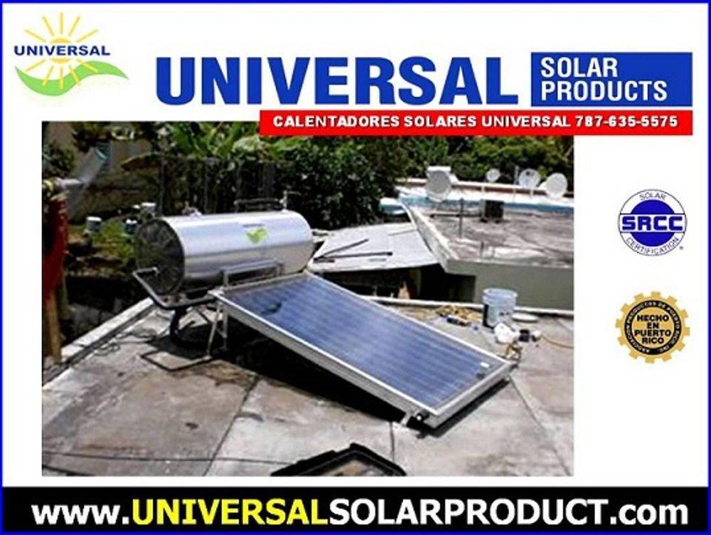Calentador solar de una placa para suplir agua caliente para 2 personas