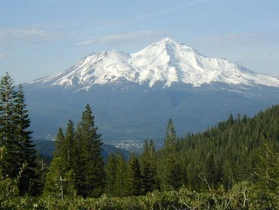 Beautiful Northern California  - Mount Shasta. Redding Attorney view from river valley
