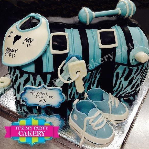Diaper bag baby Cake Dimensional Cake Milwaukee