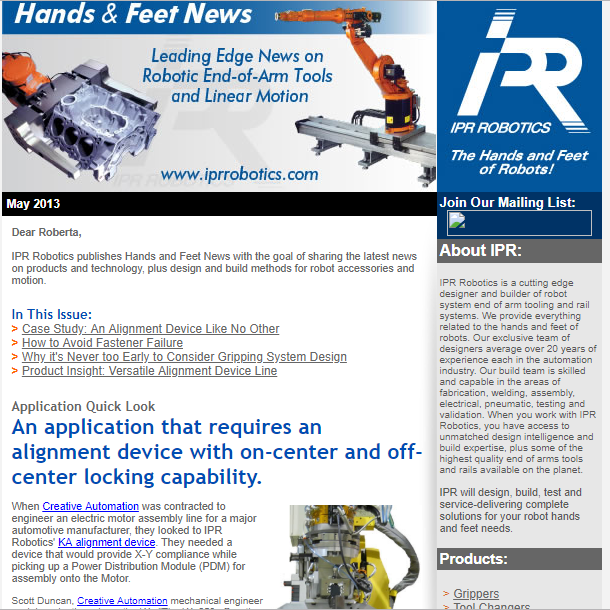 Sales MaterialsE-Newsletter for industrial automation.